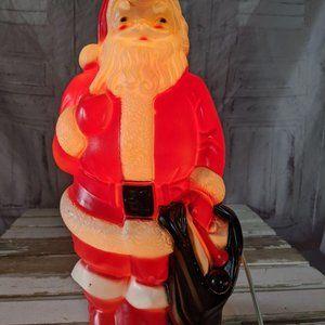 Empire mini Santa bag blow mold Xmas decor 13″